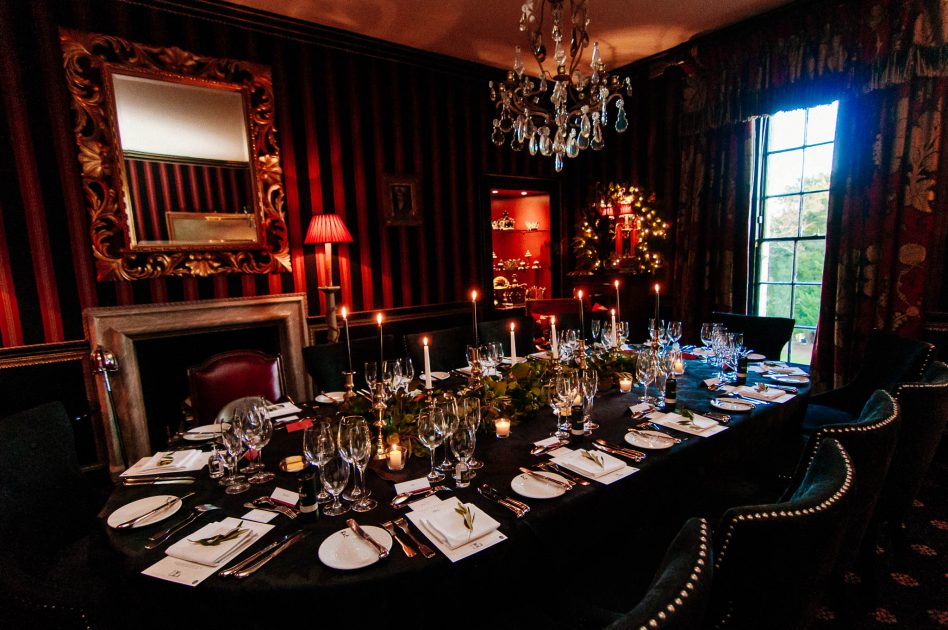 Wedding table at Prestonfield House