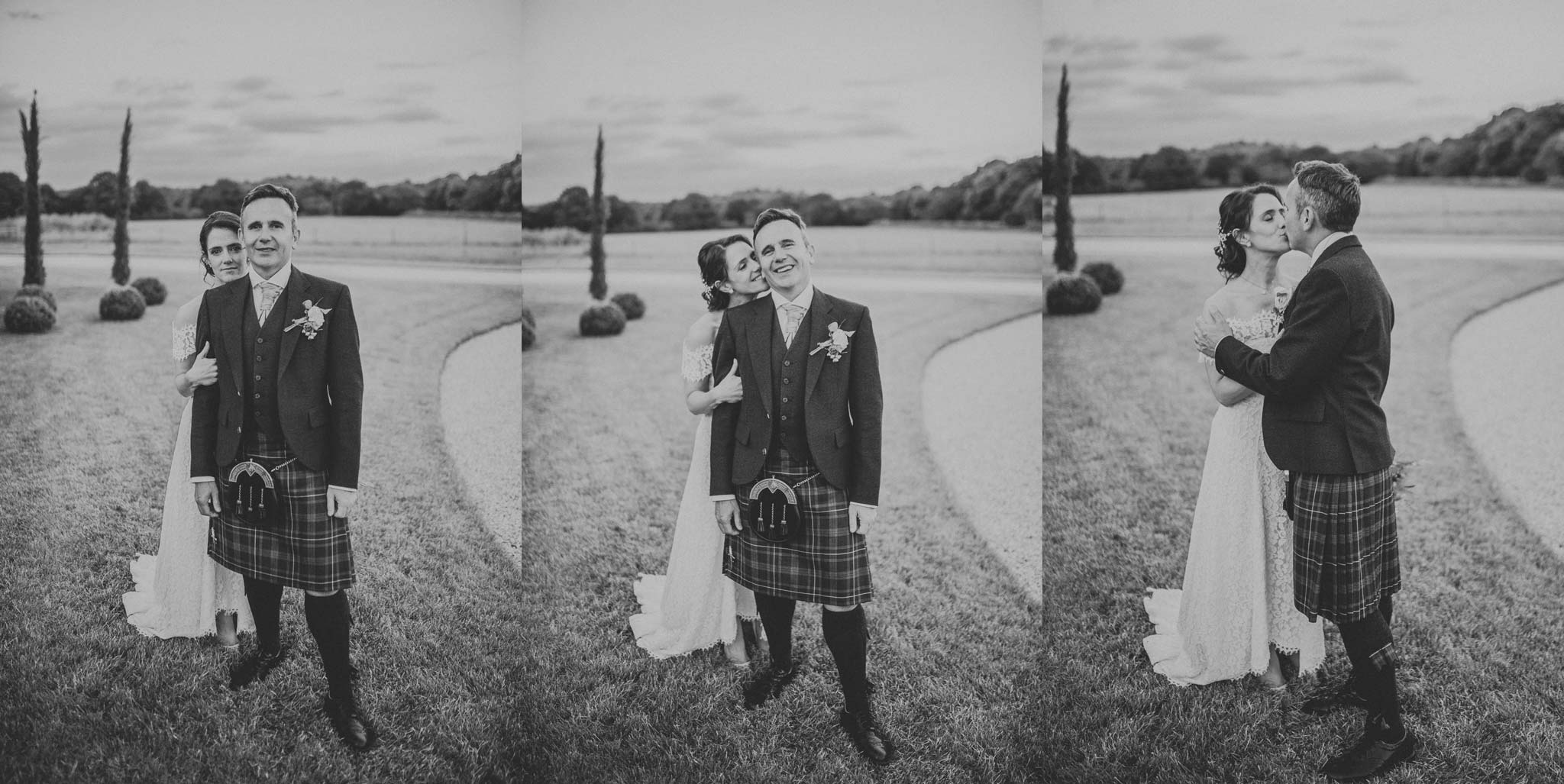 Newly married Scottish couple