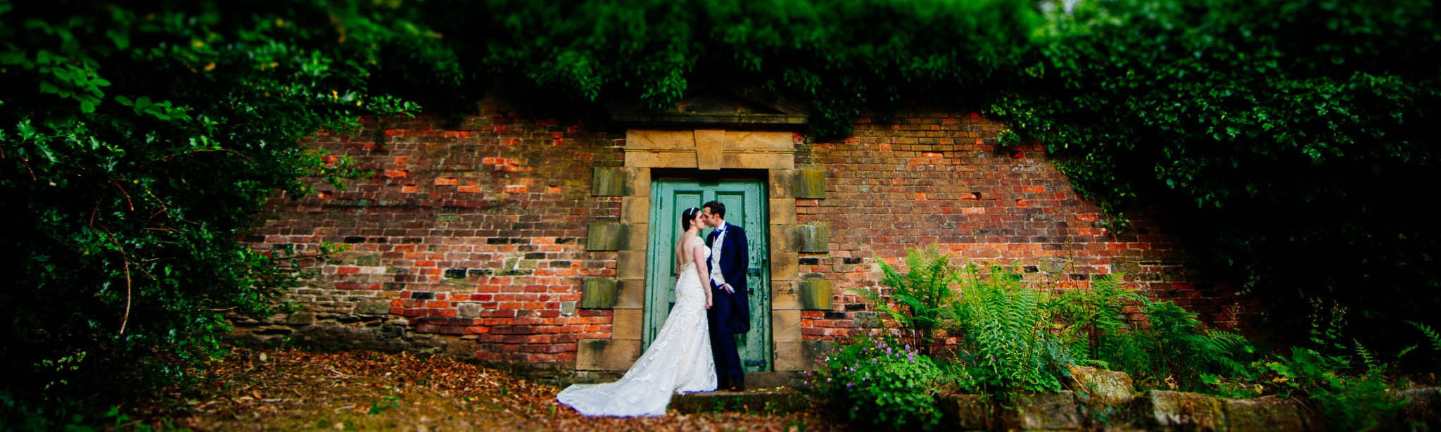 Bride and groom at Wortley Hall