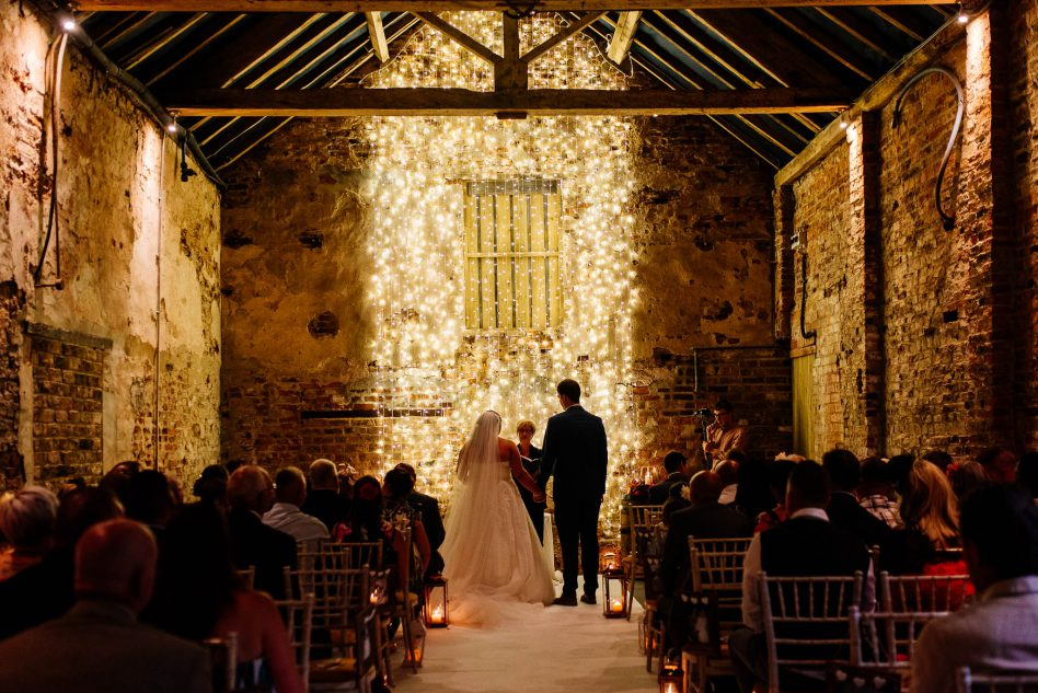 Wedding ceremony at The Normans near York