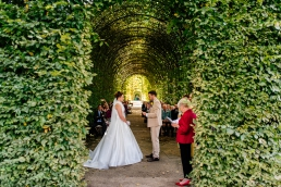 Alnwick garden outdoor wedding ceremony