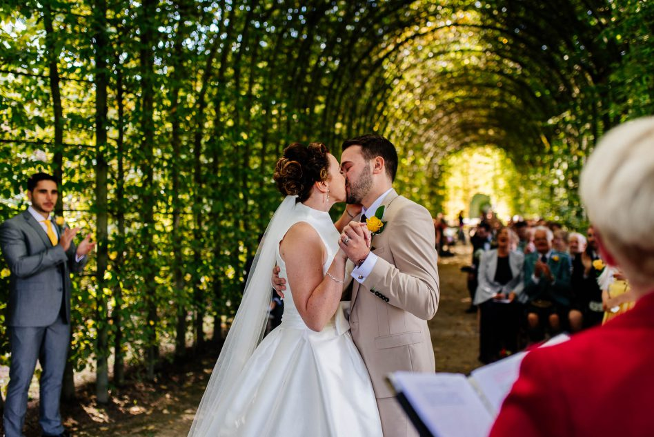 Outdoor wedding at Alnwick garden