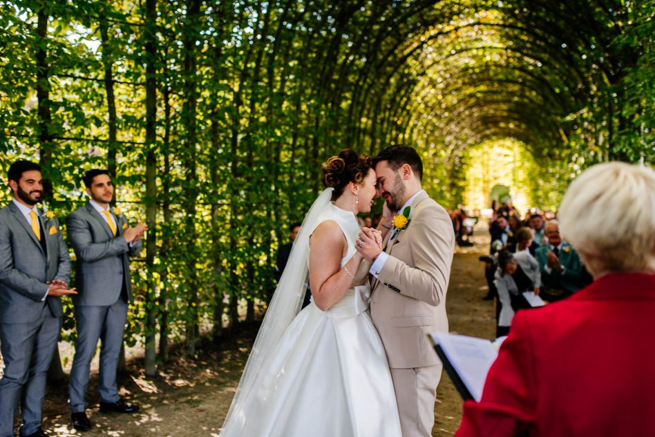 Wedding ceremony at Alnwick Garden