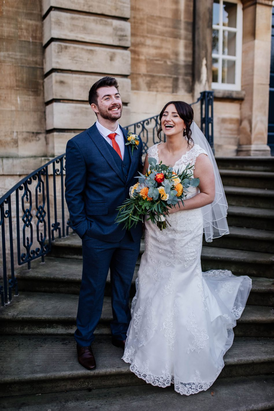 Bride and Groom at Cusworth Hall in Doncaster