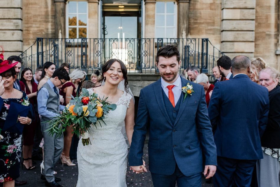 Confetti throw at Cusworth Hall in Doncaster