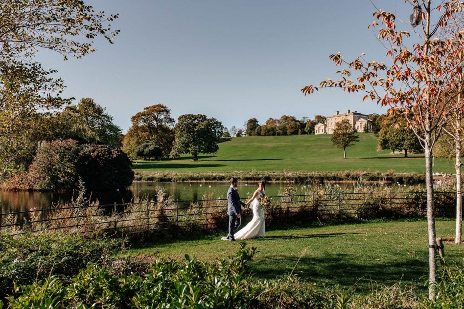 Bride and Groom at Cusworth Hall wedding venue