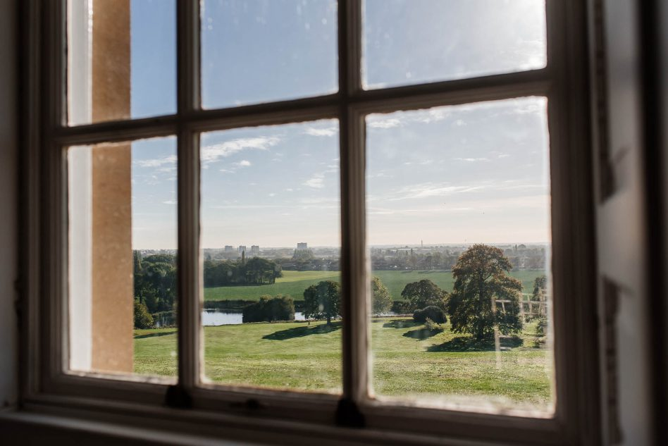 A view from Cusworth Hall wedding venue in Doncaster