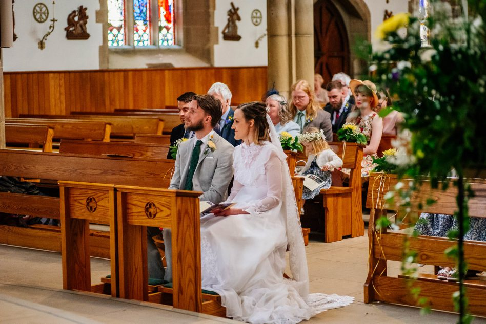 Wedding ceremony at St Marie Cathedral Sheffield