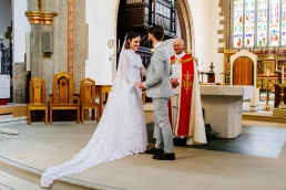 Wedding ceremony at a church in Sheffield
