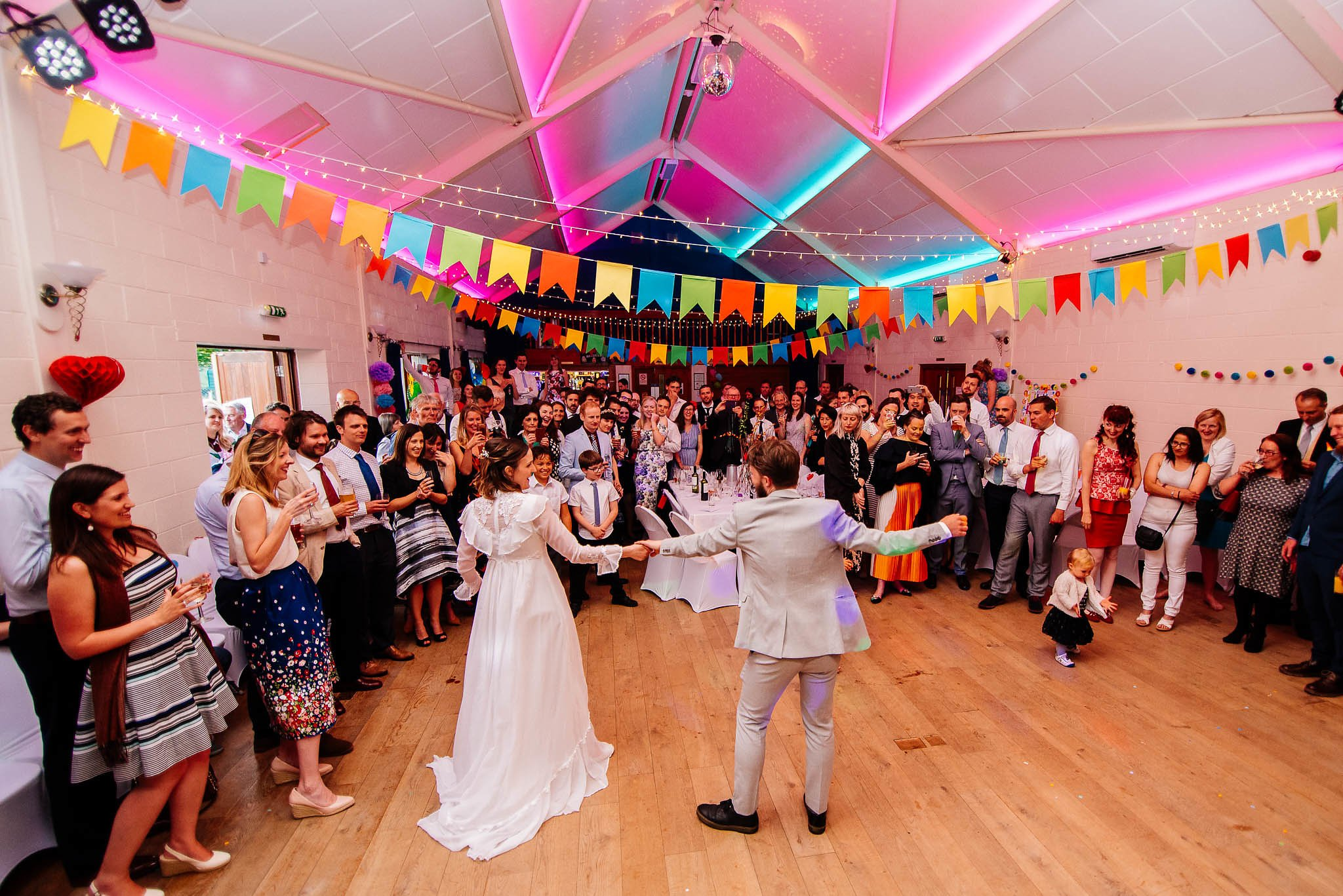 First dance at Bradfield Village hall wedding venue