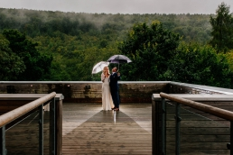 Damp and rainy wedding day