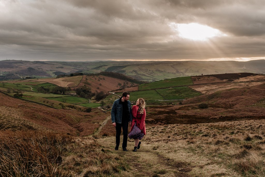 Engagement photo shoot in the Peak District near Sheffield