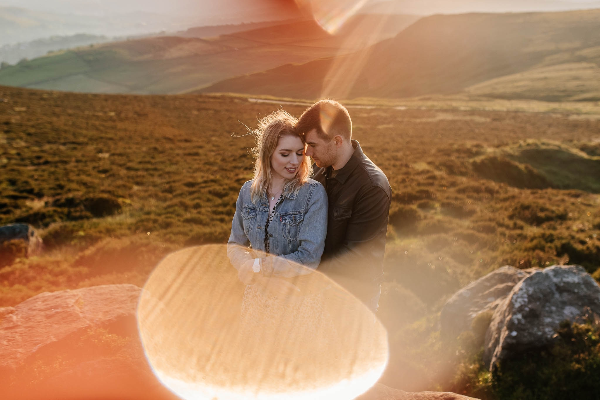 Engagement photography in the Peak District outside Sheffield