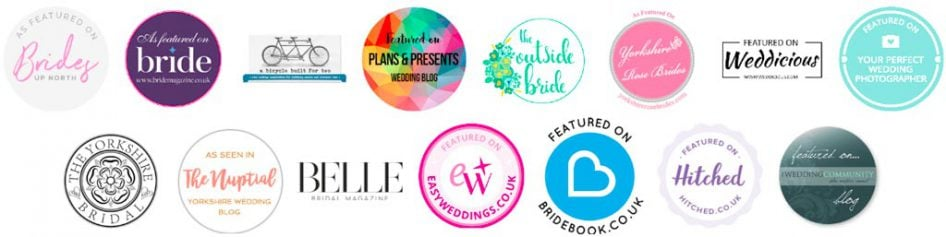 Featured wedding photographer badges