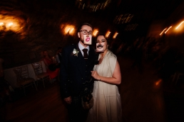 Bride and groom at the barn at harburn wedding