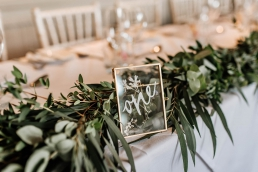 Top table at Whirlowbrook hall wedding