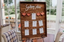 Table plan at Rogerthorpe manor wedding venue