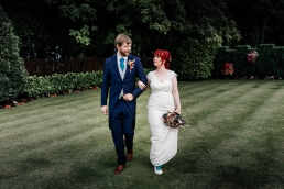 Bride and groom at Rogerthorpe manor