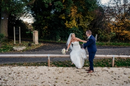 Bride and groom at Owston Hall Wedding venue