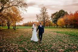 Autumn colours Owston Hall Wedding
