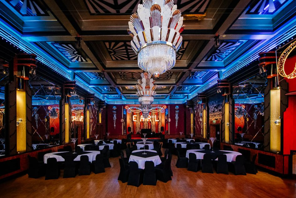 The ballroom at The Earl of Doncaster Hotel wedding venue